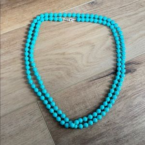 Stella & Dot blue beaded necklace